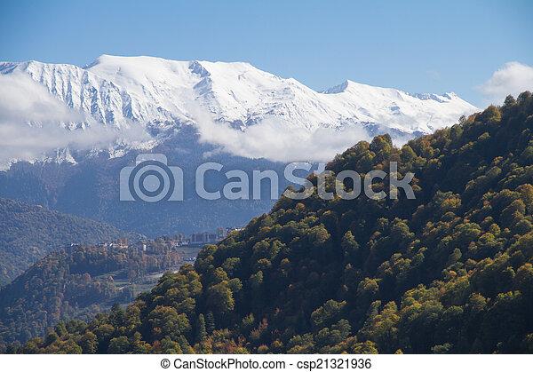 The mountains in Krasnaya Polyana, Russia - csp21321936