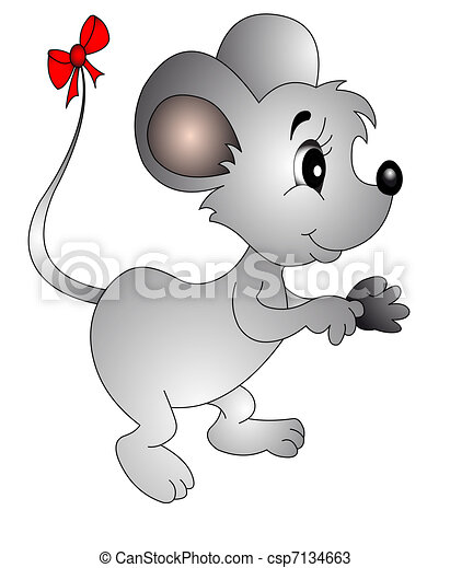 The Mouse with small bow on tail - csp7134663