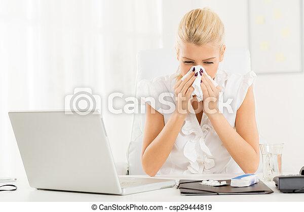 The Nagging Flu - csp29444819