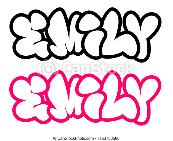 The Name Emily In Graffiti Style The Name Emily In Graffiti Bubble