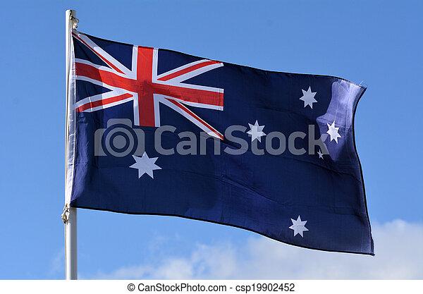 The National flag of Australia  - csp19902452