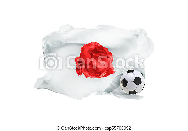 The national flag of Japan. FIFA World Cup. Russia 2018 - csp55700992