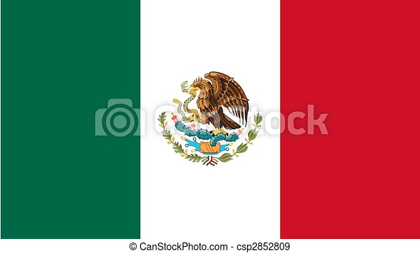 The national flag of Mexico - csp2852809
