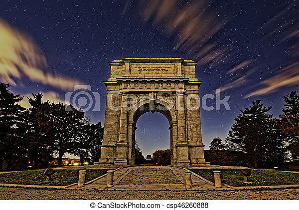 The National Memorial Arch at Night - csp46260888