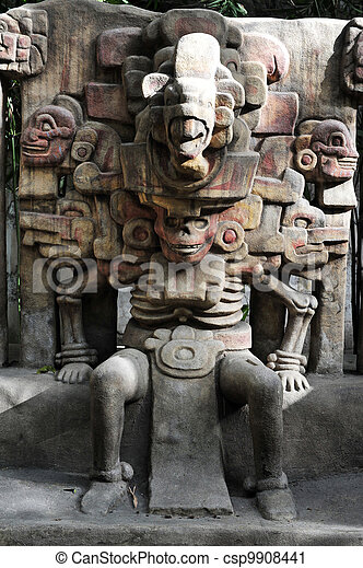 The National Museum of Anthropolog in Mexico City - csp9908441