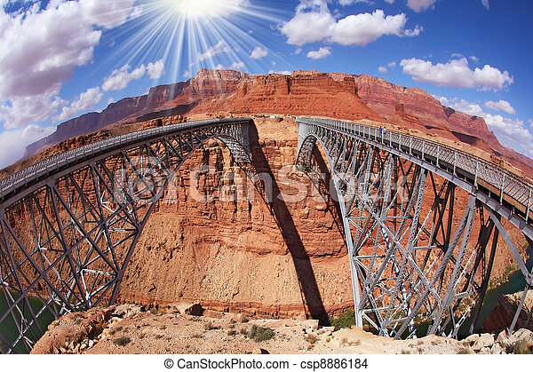 The Navajo Bridge over the River Colorado  - csp8886184