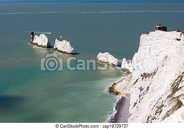 The Needles Isle Of Wight England UK - csp19729737