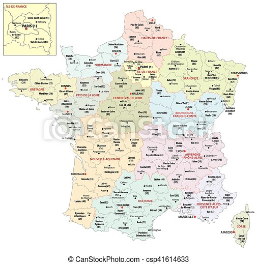 Map Of France New Regions.The New Regions Of France Since 2016