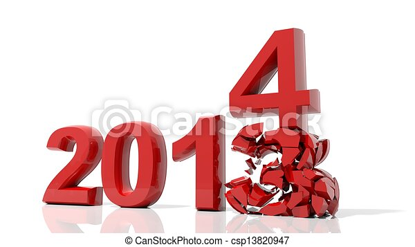 The new year 2014 is coming - csp13820947