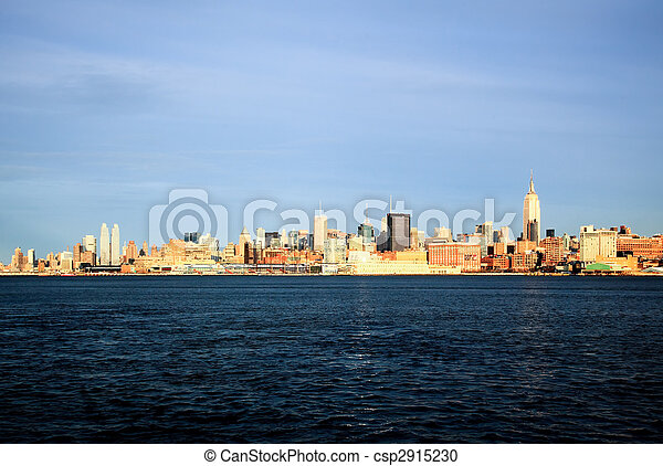 The New York City midtown skyline - csp2915230