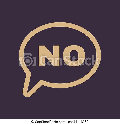 The No Speech Bubble Icon No Symbol Flat Vector Clipart Vector