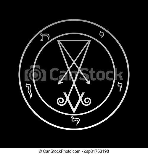 The official symbol of Lucifer  - csp31753198