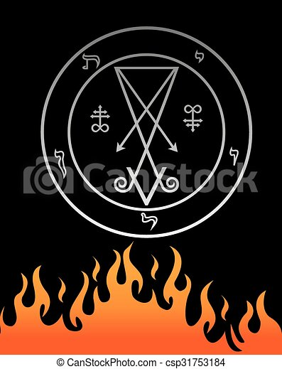 The official symbol of Lucifer  - csp31753184