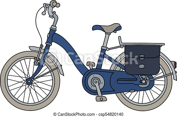 The old blue bicycle - csp54820140
