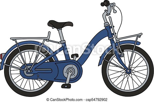 The old blue bicycle - csp54792902