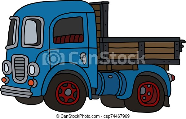The old blue truck - csp74467969