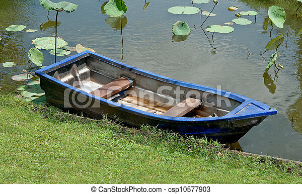 The Old boat on the river - csp10577903