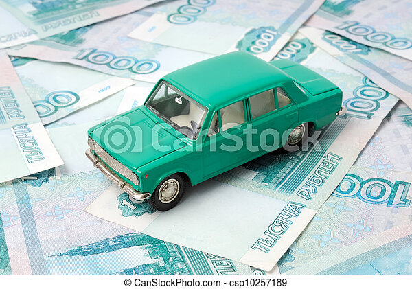 The old car and money - csp10257189