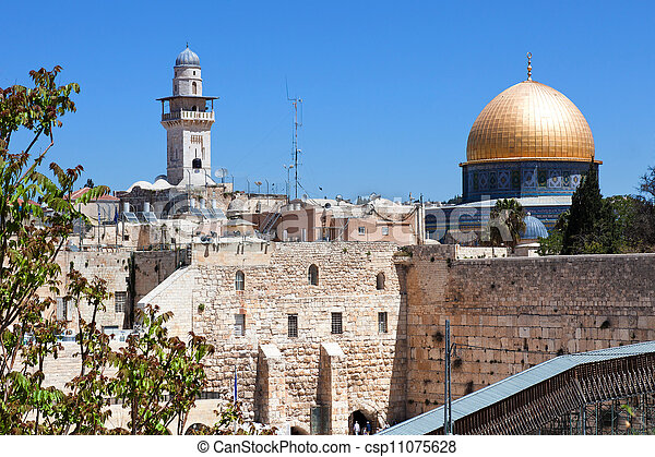 The Old City of Jerusalem. - csp11075628