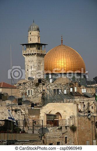 The old city of Jerusalem - csp0960949