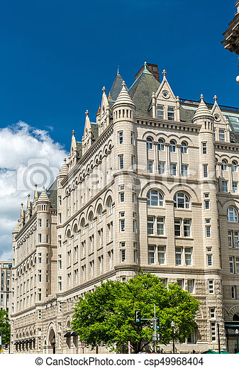 The Old Post Office Pavilion in Washington, DC. United States - csp49968404