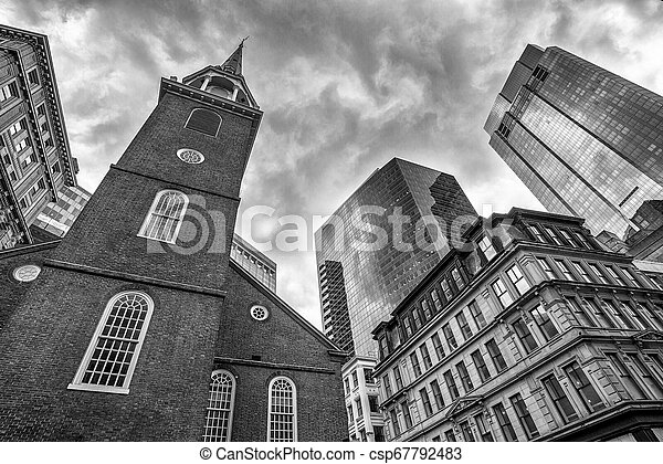 The Old State House in Boston city in the United States - csp67792483