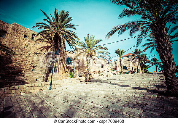 The old streets of Jaffa, Tel Aviv, Israel - csp17089468