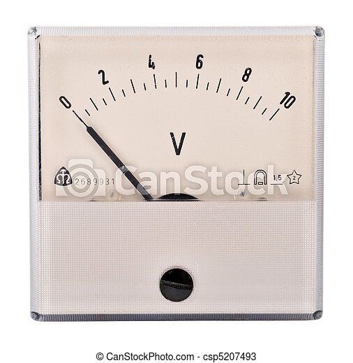 The old voltmeter - csp5207493