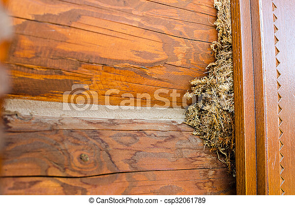 the old wooden brown background - csp32061789
