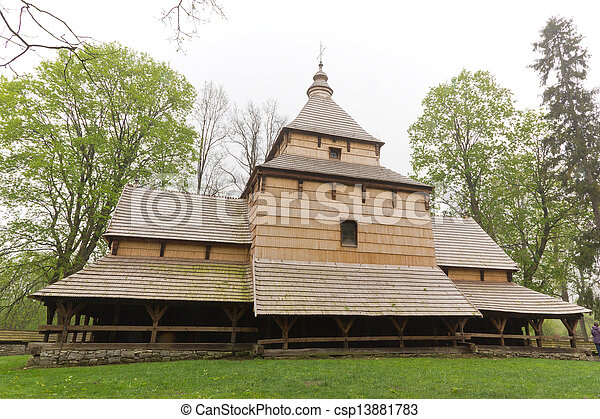 the oldest eastern orthodox church architecture in poland in radruz from 16th century - csp13881783