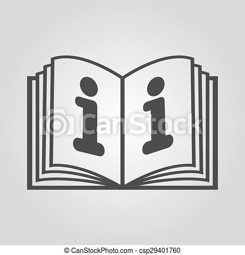 The open book icon. Manual and tutorial, instruction, encyclopedia symbol. Flat - csp29401760