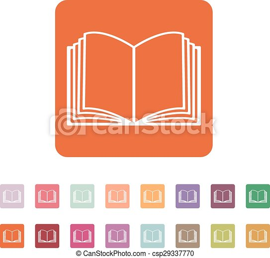 The open book icon. Manual and tutorial, instruction symbol. Flat - csp29337770