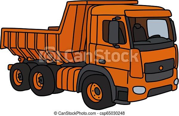The orange dumper truck - csp65030248