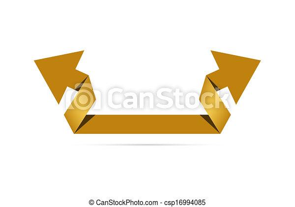 The origami style arrow - csp16994085