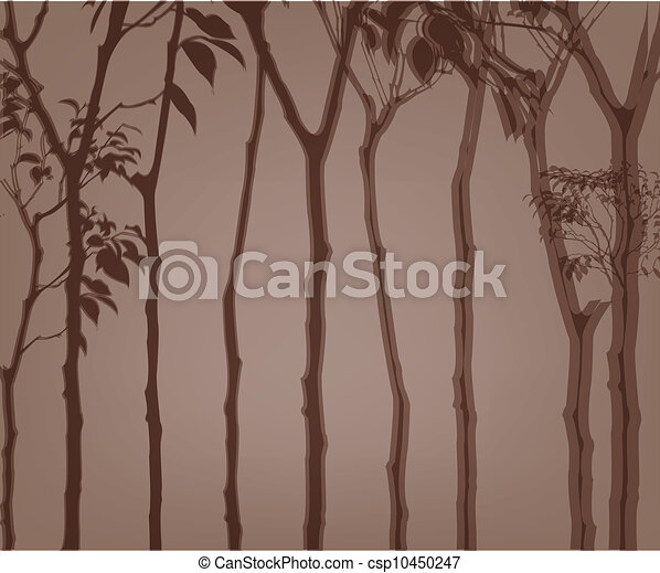 The outline of an trees - csp10450247