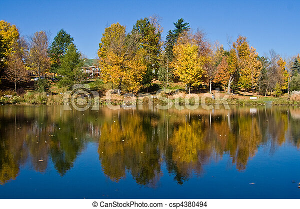 The park in the Fall - csp4380494