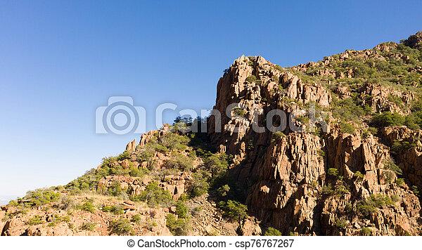 The peak of a mountain in Arizona - csp76767267