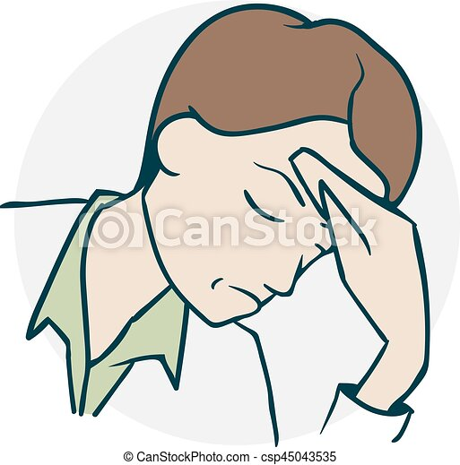 The Person Headache Severe Headache Screaming In Pain Icon On Medical Subjects Illustration Of A Funny Cartoon Style
