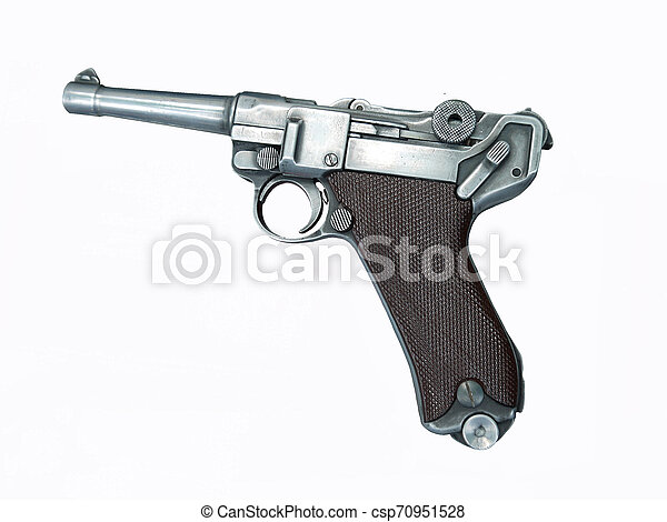 The photo of Luger pistol - csp70951528