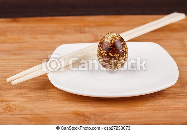 The picture quail eggs - csp27233073