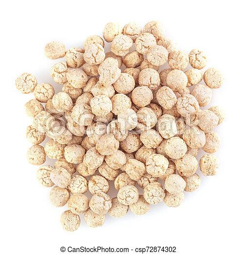 The piles of pale whole grain children - csp72874302