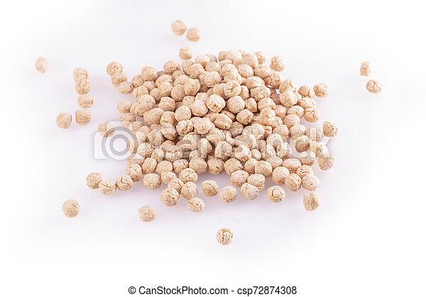 The piles of pale whole grain children - csp72874308