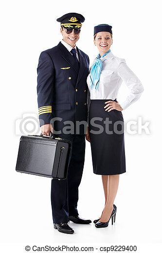 The pilot and stewardess - csp9229400