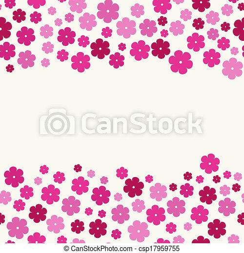 The pink flowers border the abstract seamless boarder made out of the pink flowers border csp17959755 mightylinksfo