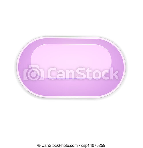 the pink oval button - csp14075259