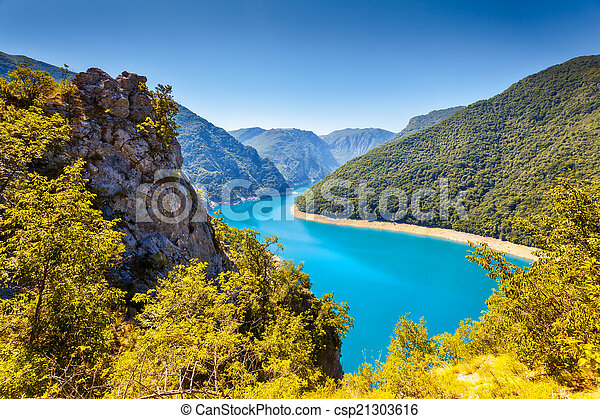 The Piva river in Montenegro - csp21303616