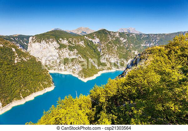 The Piva river in Montenegro - csp21303564