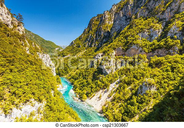 The Piva river in Montenegro - csp21303667
