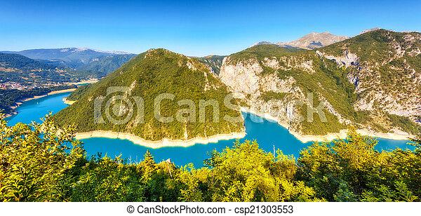 The Piva river in Montenegro - csp21303553
