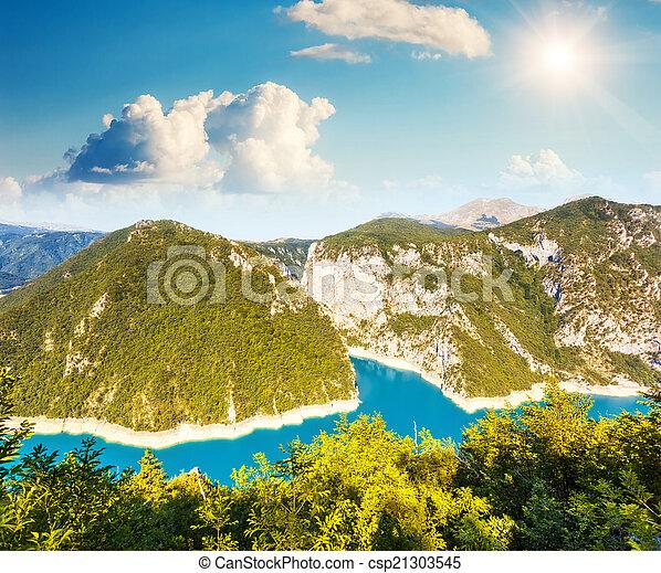 The Piva river in Montenegro - csp21303545